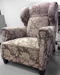 Verhoilulla uudistettu vanhan nojatuoli | Sisustusverhoomo Wanhat Toolit - Pori